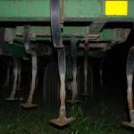 Night Gear 1 ©2012 NATE METZ -- digital photography night photography moon farm equipment plow at night
